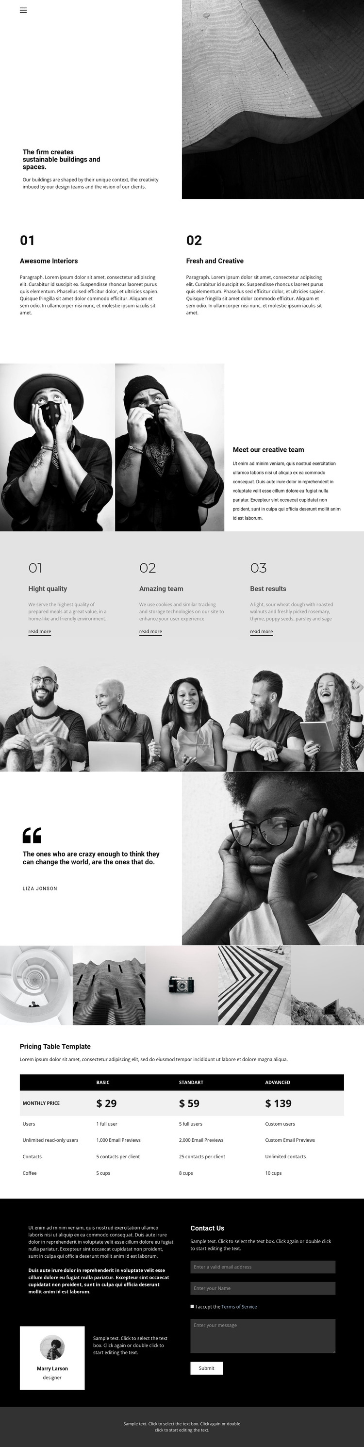 We creates sustainable buildings HTML Template