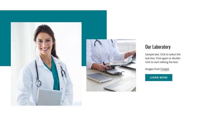 Accredited pathology laboratory Homepage Design