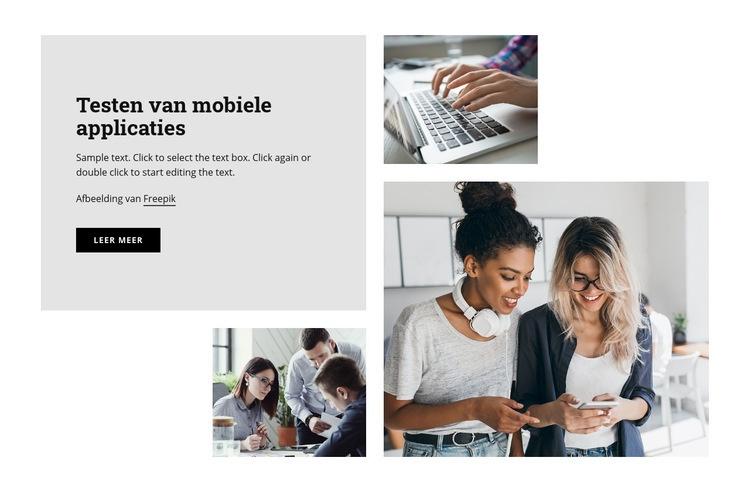 Testen van mobiele applicaties Website sjabloon