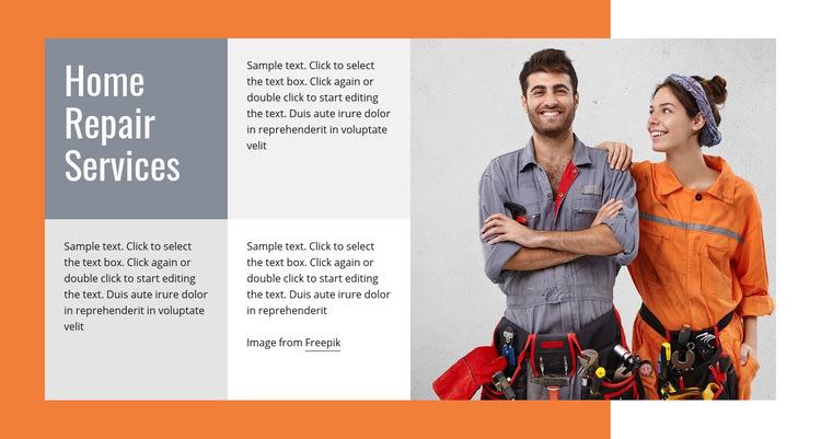 Sanitärreparaturen Website-Vorlage
