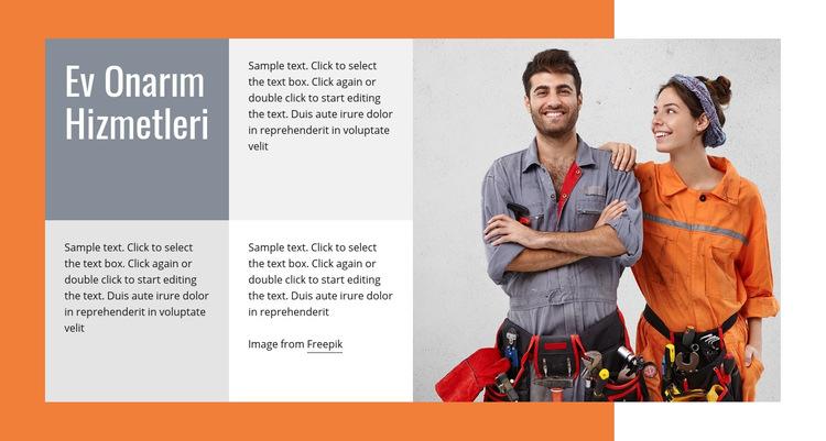 Sıhhi tesisat onarımları Web Sitesi Şablonu