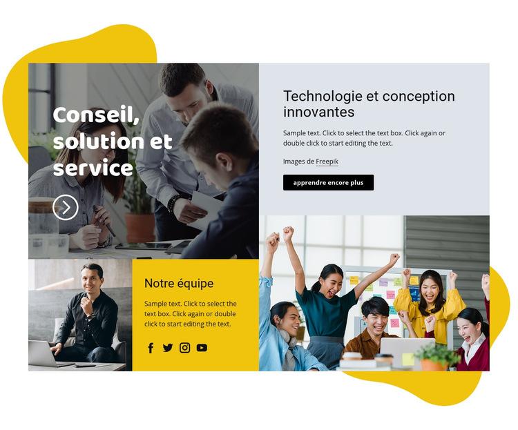 Solution de conseil Modèle de site Web