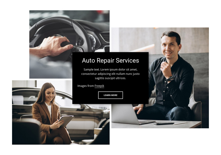 Engine repair and wheel alignment One Page Template