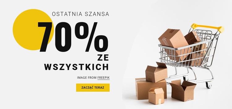 70% sprzedaży Szablon witryny sieci Web
