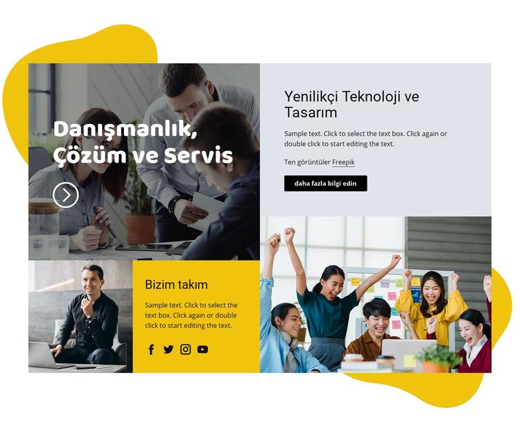 Danışmanlık çözümü Web Sitesi Şablonu