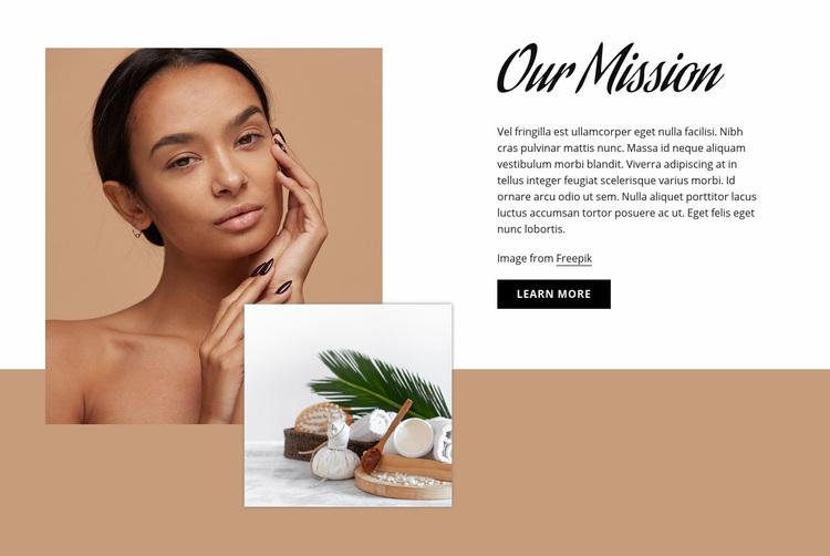 Beauty & spa salon Web Page Designer