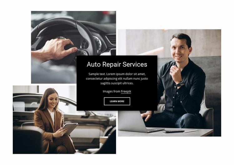Engine repair and wheel alignment Web Page Designer