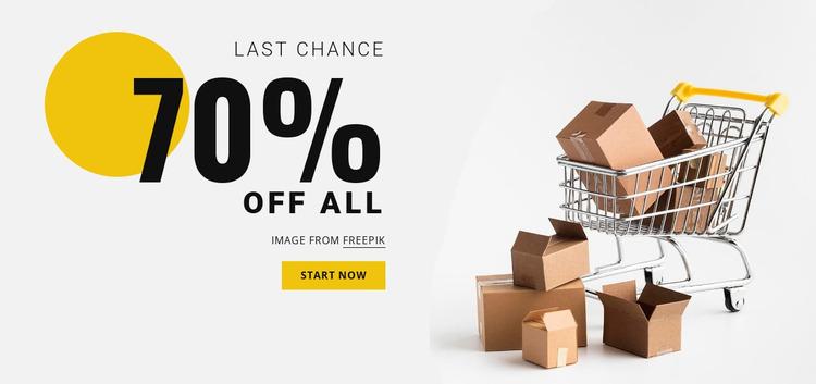70% sale Website Mockup