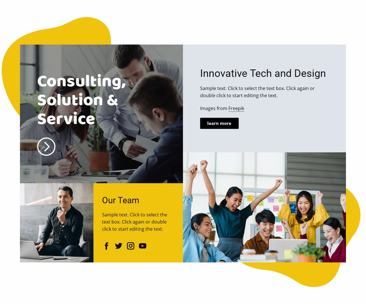 Learning & development Landing Page