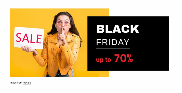 Black friday sales Website Template