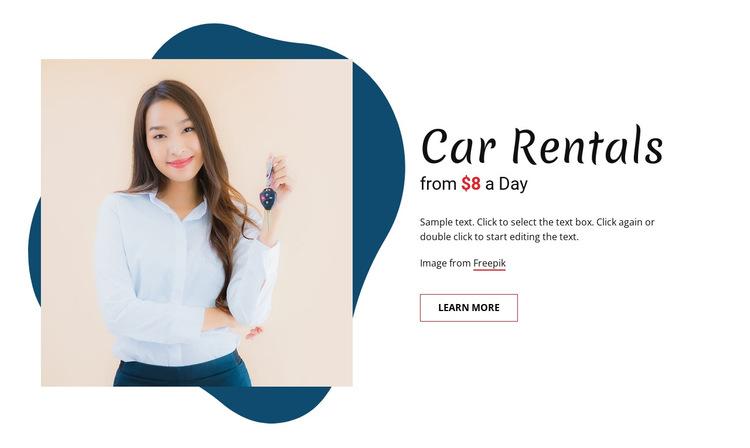 Car rentals HTML5 Template