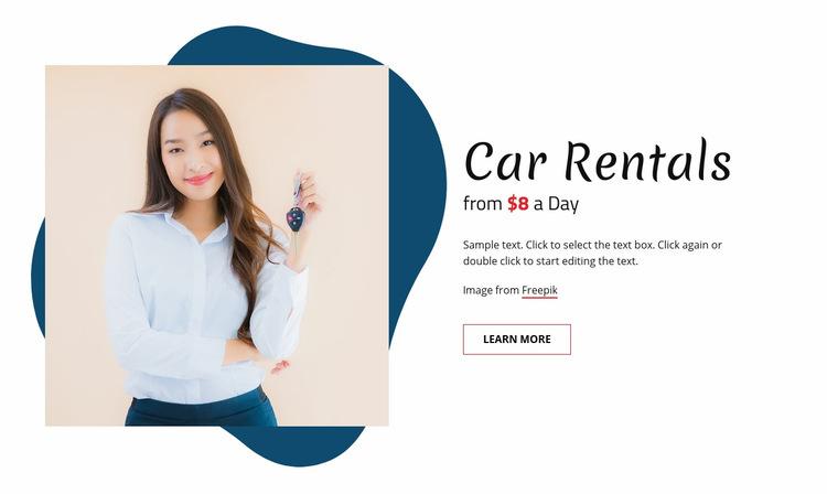 Car rentals Web Page Design