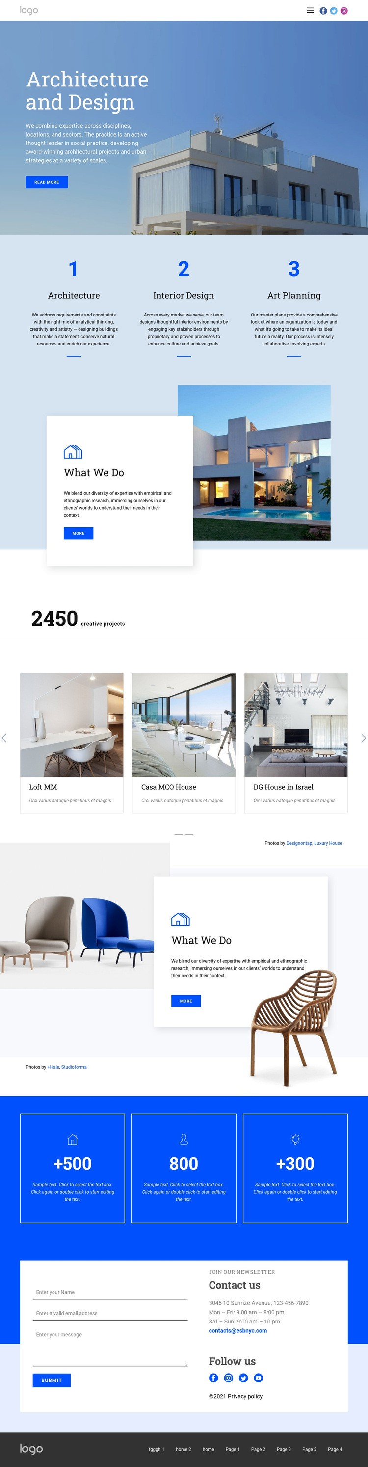 Architecture and design Html Code Example