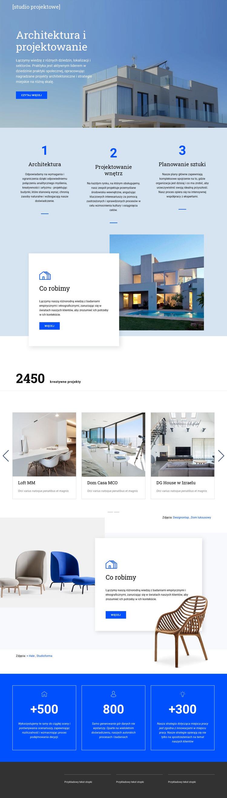 Architektura i projektowanie Szablon witryny sieci Web