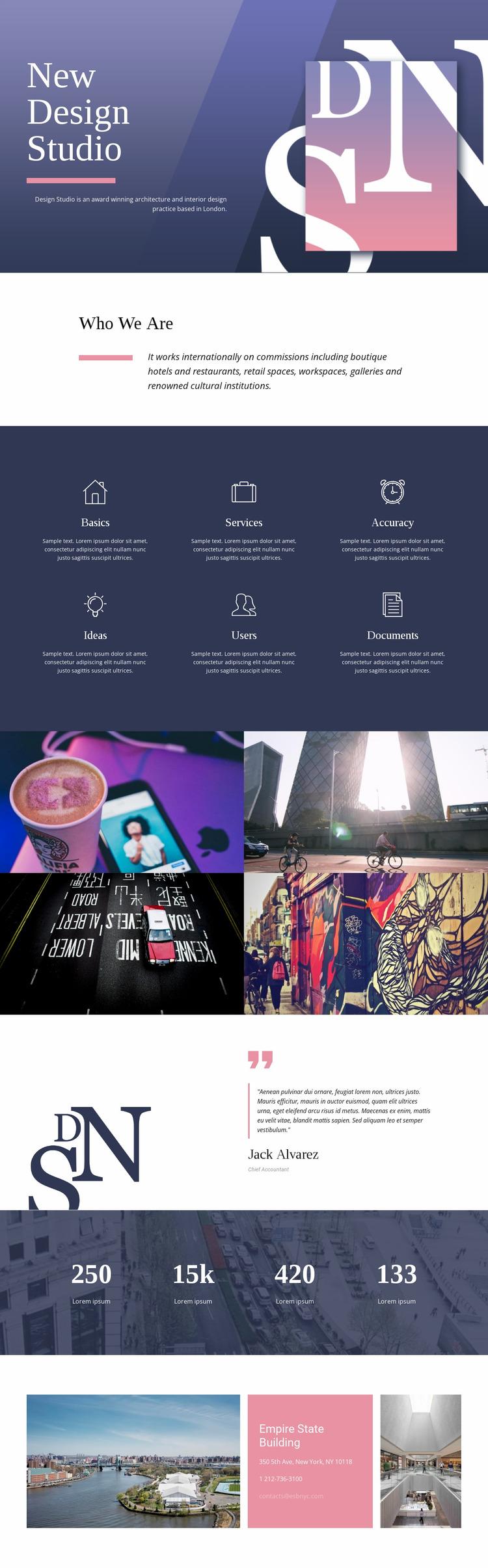 Exceptional web art Website Mockup