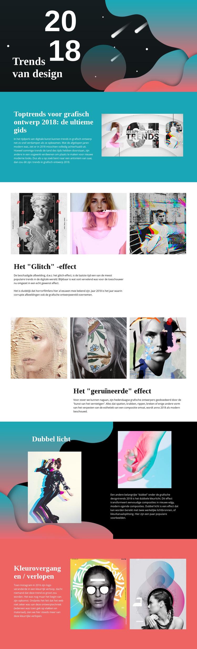 Trends van ontwerp Website sjabloon