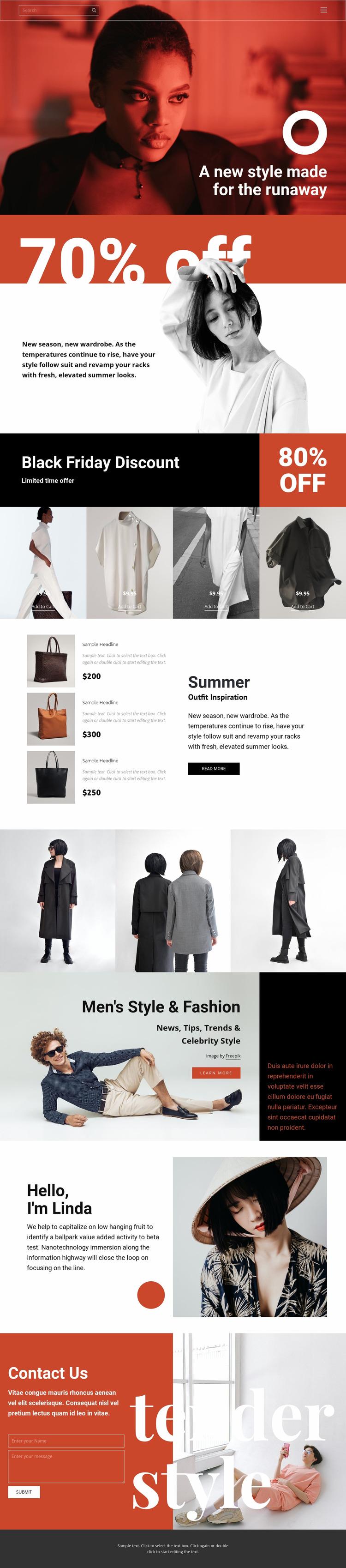Fashion super sale Html Website Builder