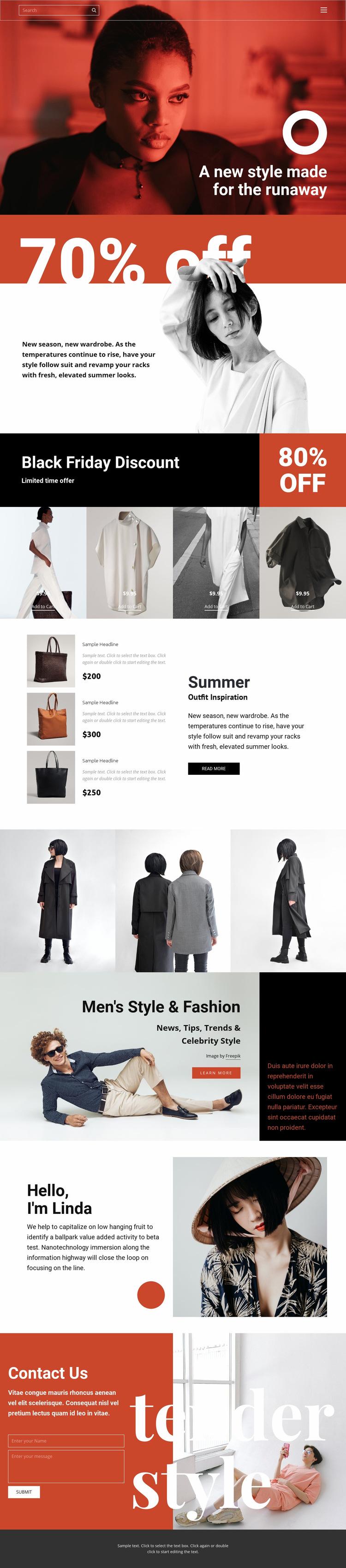 Fashion super sale Web Page Design