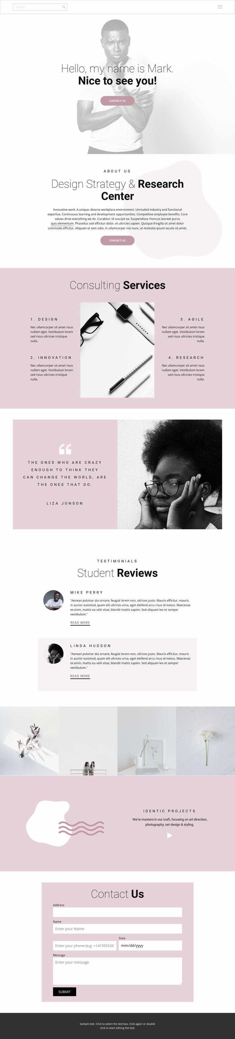 Design strategy Website Template
