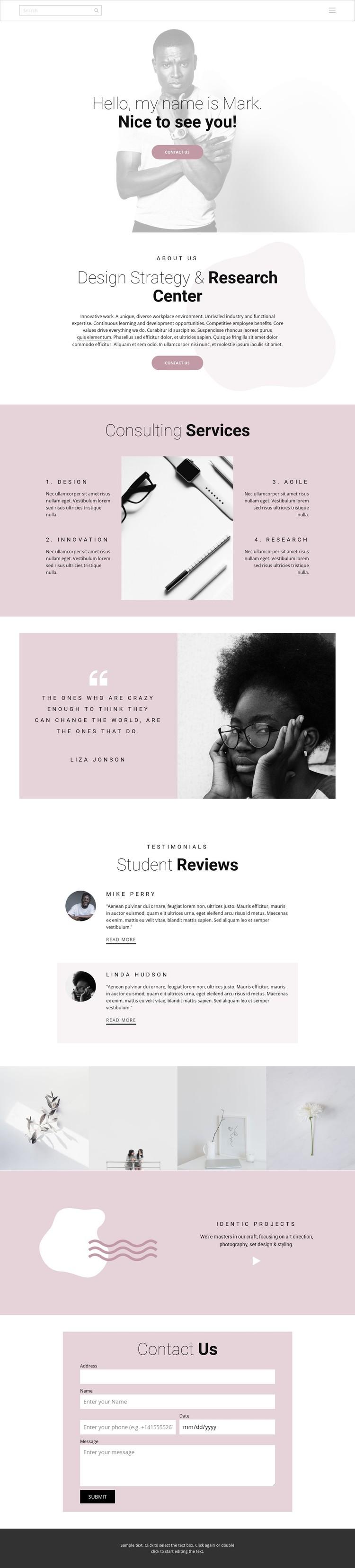 Design strategy WordPress Template