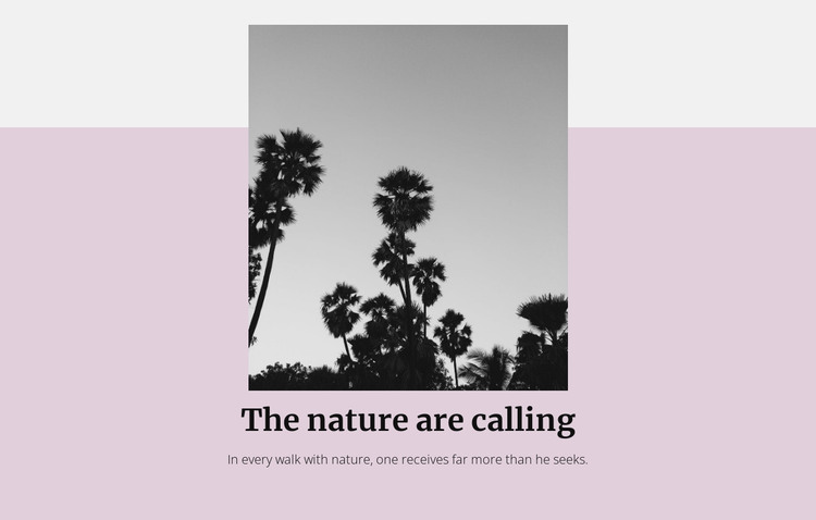 The nature is calling HTML Template
