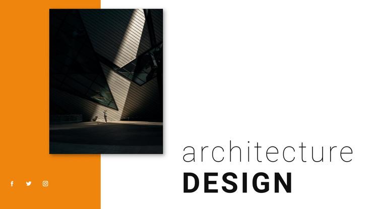 Architecture design HTML Template