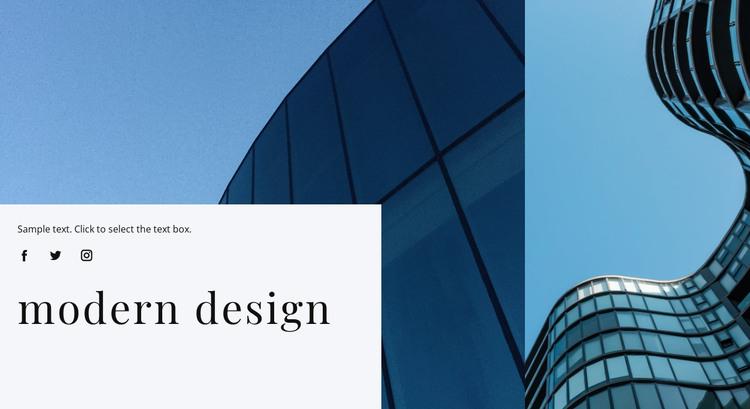 Modern design HTML Template