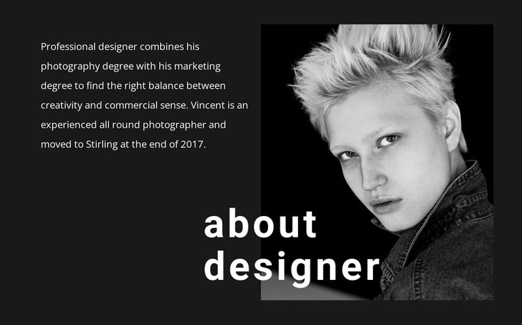 About business promotion HTML5 Template