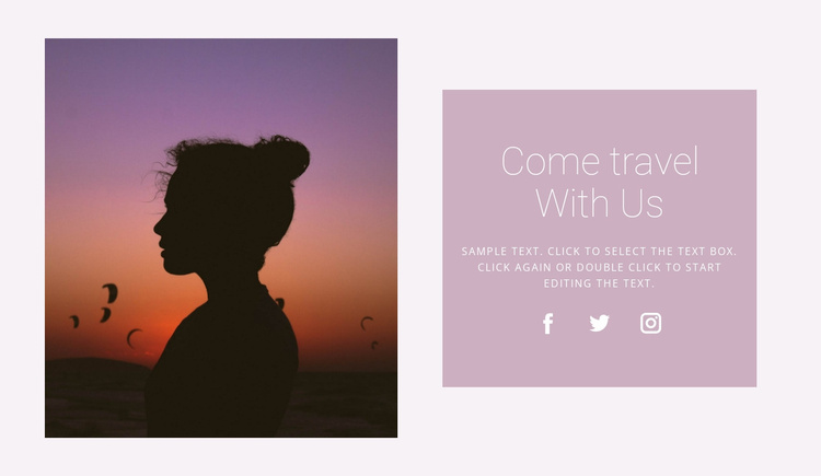 Travel with a personal guide Website Template