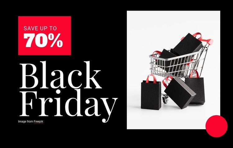 Black Friday prices Website Creator