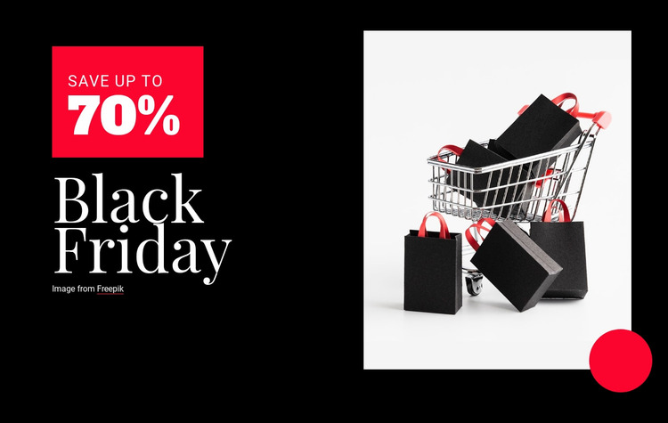 Black Friday prices Website Mockup