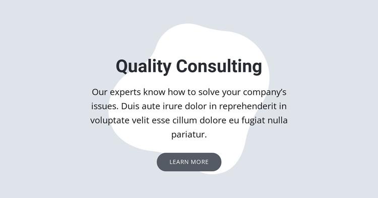 Quality consulting WordPress Theme