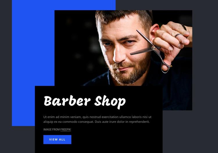 Barber shop HTML Template