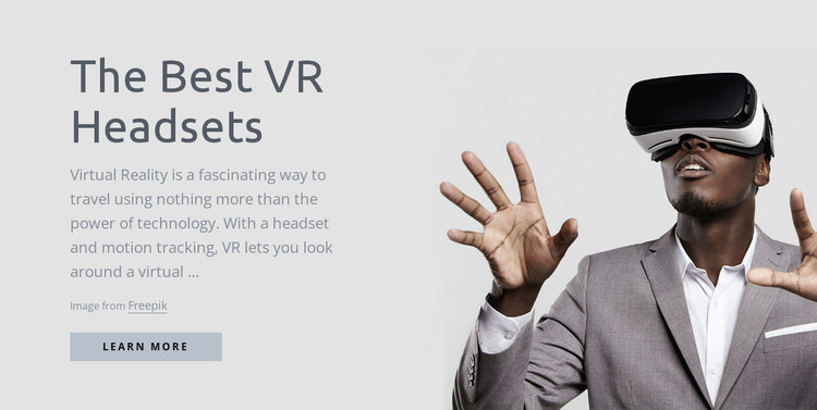 Virtual reality technology Html Website Builder