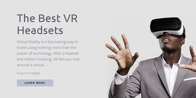 Virtual reality technology Website Design