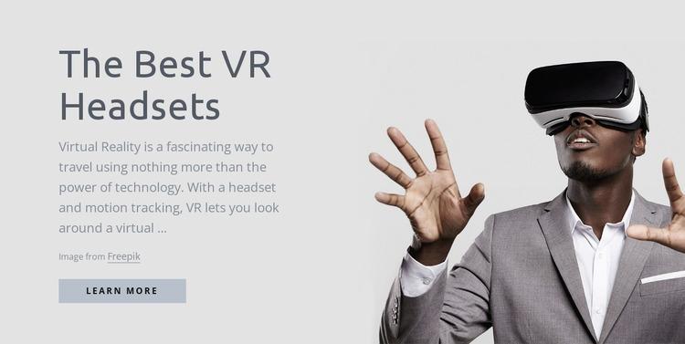Virtual reality technology Website Mockup