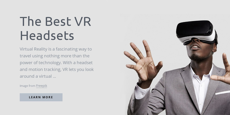 Virtual reality technology WordPress Website Builder
