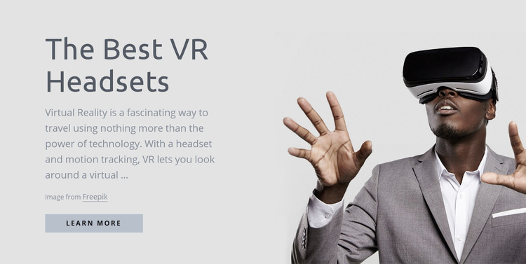 Virtual reality technology WordPress Website