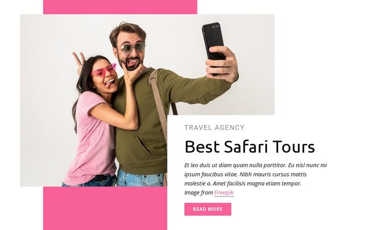 Best safari tours HTML Template