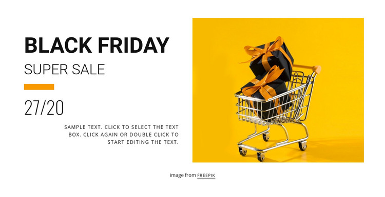 Black friday sale HTML Template