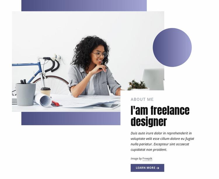 Freelance designer Html Website Builder