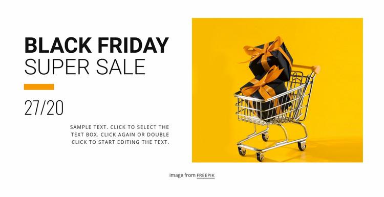 Black friday sale Web Page Designer