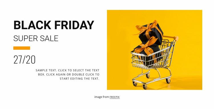 Black friday sale Website Design