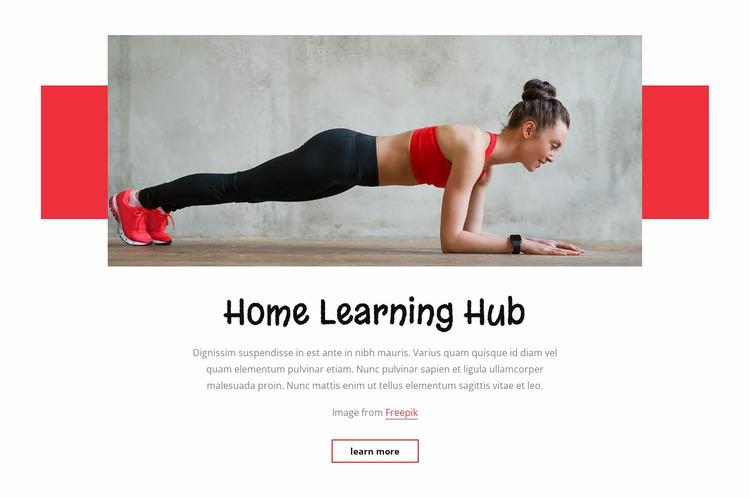 Home learnung hub Website Mockup