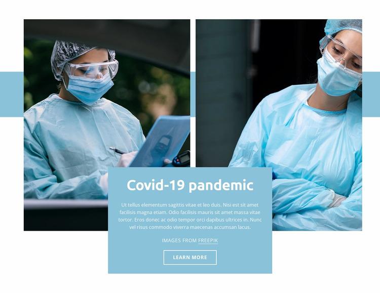 Covid-19 pandemic Website Mockup