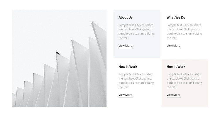 About our work Homepage Design