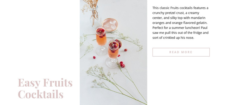 Fruits cocktails HTML Template
