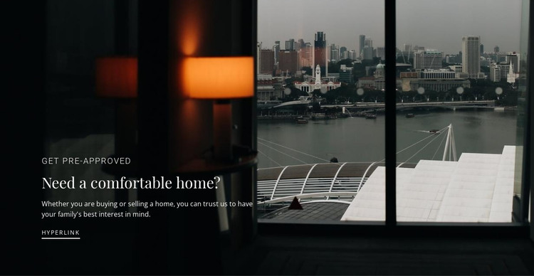 If you need home HTML Template