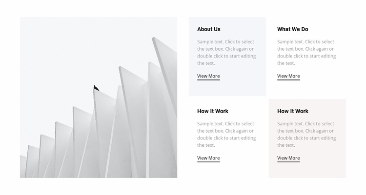 About our work Landing Page