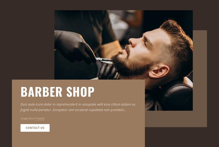 Barbers and barbershop Homepage Design